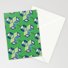 CUBIC LEAVES Stationery Cards