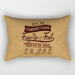 Conqui Fuerte y fiel Rectangular Pillow