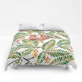 Happy Sloth – Tropical Green Rainforest Comforters
