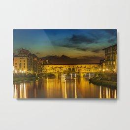 FLORENCE Ponte Vecchio at Sunset Metal Print