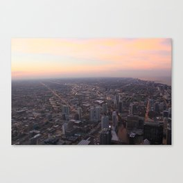 Chicago Cityscape Sunset Canvas Print