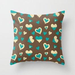 Baloon Heart Throw Pillow