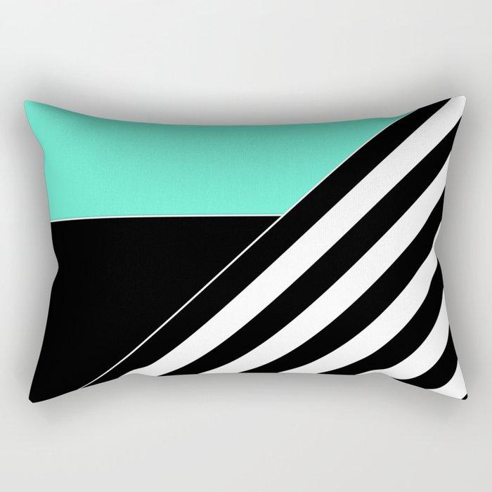 Asymmetrical patchwork 2 Rectangular Pillow