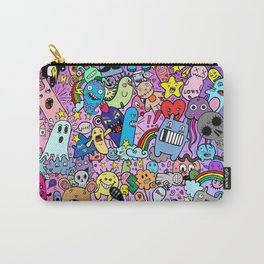 Doodle Monsters Comic Rainbow Carry-All Pouch