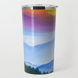 Smokey Mountain Sunset Travel Mug