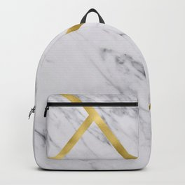 Golden classic marble Backpack