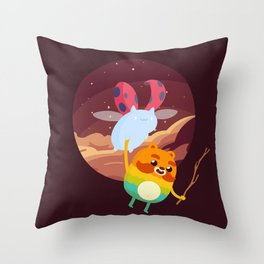 Impossibug Throw Pillow