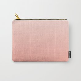 Ombre pastel fade peach blush coral gender neutral basic canvas art print minimalist Carry-All Pouch