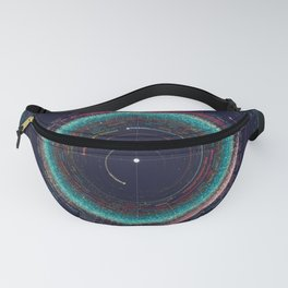 Asteroid Map of the Solar System Fanny Pack