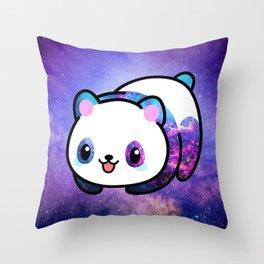 Kawaii Galactic Mighty Panda Throw Pillow