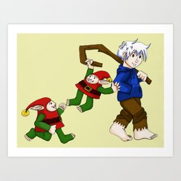 Jack Frost and The Elves Art Print