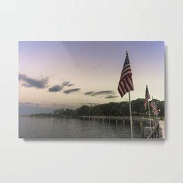 Boulevard summer sundown Metal Print