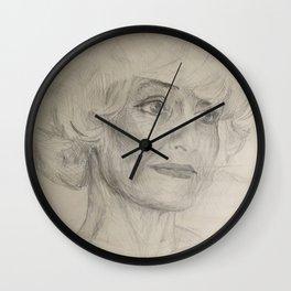 Home Decor Drawing Woman Digital Digital Sketch Modern Room Wall Art Wall Hanging Wall Clock