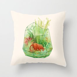 Tigerrarium Throw Pillow