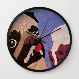 Pug frozen Wall Clock