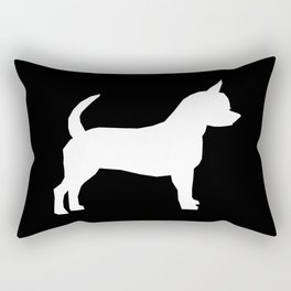 Chihuahua silhouette black and white pet art dog pattern minimal chihuahuas Rectangular Pillow