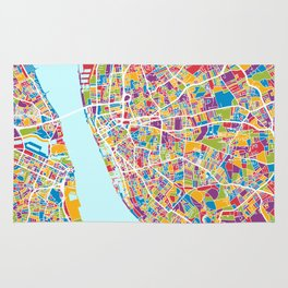 Liverpool England Street Map Rug