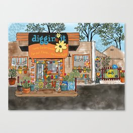 Diggin' it Mckinney, TX Canvas Print