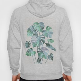 Delicate Monstera Blue And Green #society6 Hoody