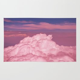 Pink Cotton Candy Clouds Rug