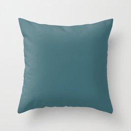 Solid Colors Series - Dark Desaturated Cyan Throw Pillow
