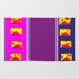 Purple And Gold on The  Horizon Rug