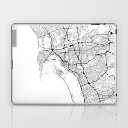 Minimal City Maps - Map Of San Diego, California, United States Laptop & iPad Skin