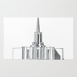 Jordan River LDS Temple Rug