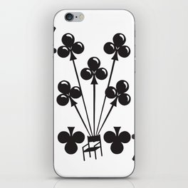 Curator Deck: The 7 of Clubs iPhone Skin