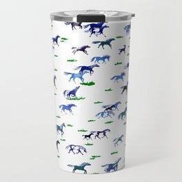 Blue Stampede Travel Mug