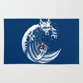 Little Red Surfing Hood Rug