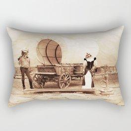 Old West Cowboy Cat and his Gal Rectangular Pillow