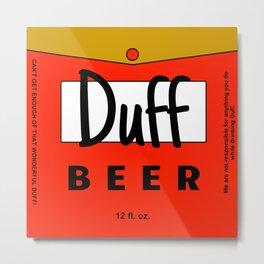 Duff beer Metal Print