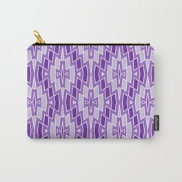 Diamond Pattern in Purple and Lavender Carry-All Pouch