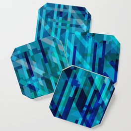 abstract composition in blues Coaster