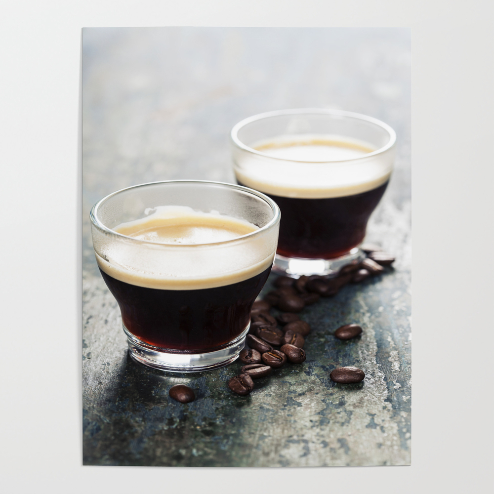 Coffee. Coffee Espresso. Cup Of Coffee Poster by Klenova POS9106017
