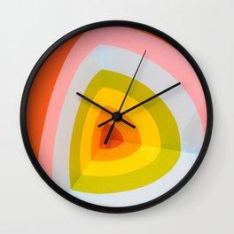 Rainbow Abstract Art Wall Clock