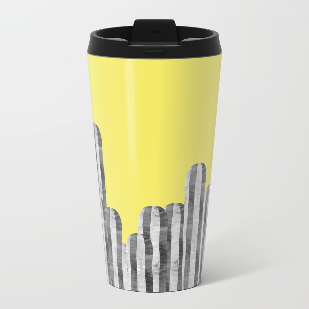 Cacti On Yellow Background Travel Mug TRM8958832