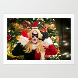 Merry Mayhen and Happy Hysteria from Harley Quinn Art Print