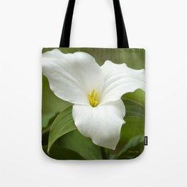 Trillium Flower Tote Bag