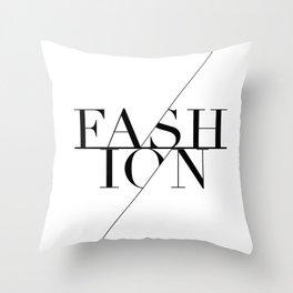 fashion typography Throw Pillow