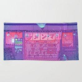Ramen Shop Beach Towel
