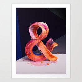 & Ampersand Art Print