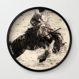 Hanging On - Bronco Busting Champ Wall Clock