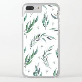 Native Gum Leaves Clear iPhone Case
