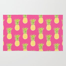pineapple tropical vector pattern. textile print fashion illustration. Rug
