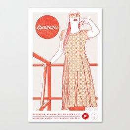 Lazyeyes @ Milk Run Canvas Print