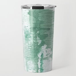 Dark sea green vague watercolor Travel Mug