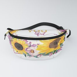 beYOUtiful floral wreath Fanny Pack
