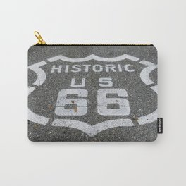 Route 66 sign on the road Carry-All Pouch